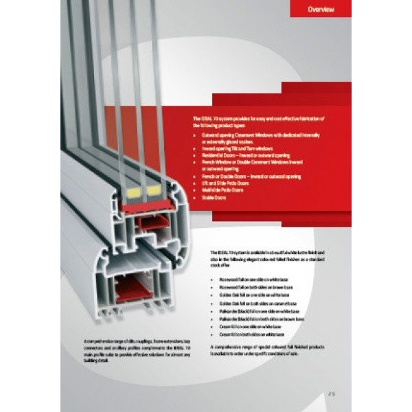 IDEAL 70 - Outward opening casement system